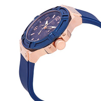 Guess Rigor Blue Dial Silicone Strap Men's Watch W0247G3