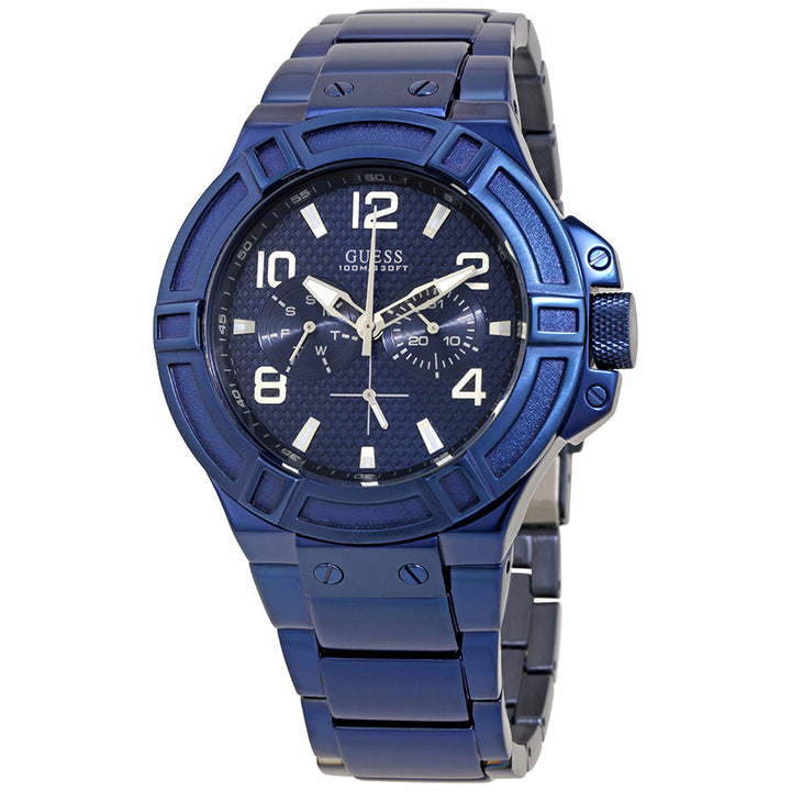 Guess Rigor Multi-Function Blue Dial Men's Watch W0218G4