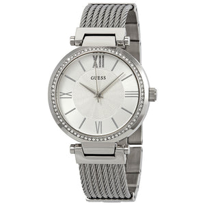 Guess Soho Crystal Silver Dial Ladies Watch W0638L1