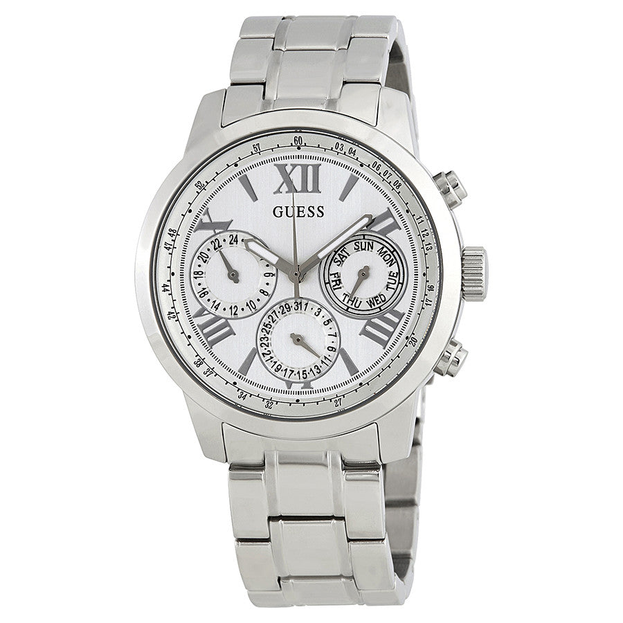 Guess Sunrise Multi-Function White Dial Watch W0330L3