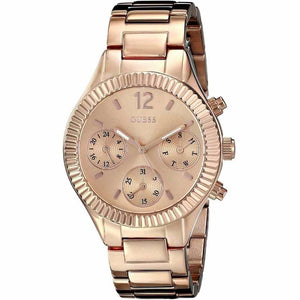 Guess Riviera Rose Dial Stainless Steel Ladies Watch W0323L3