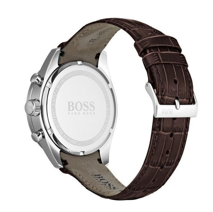 Hugo Boss Trophy Chronograph Silver Dial Men's Watch 1513629 Water resistance: 50 meters Movement: Quartz