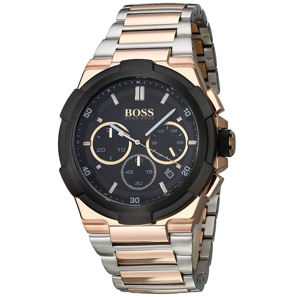 Hugo Boss Chronograph Black Dial Two-Tone Men's Watch 1513358 Water resistance: 50 meters Movement: Quartz
