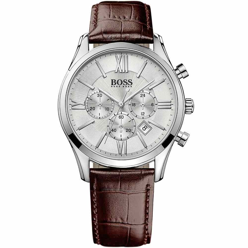 Hugo Boss Ambassador Exclusive Chronograph Dial Men's Watch 1513195 Water resistance: 30 meters / 100 feet Movement: Quartz