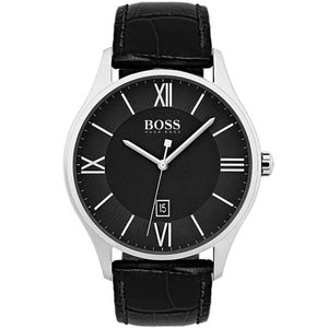 Hugo Boss Governor Black Dial Leather Strap Men's Watch 1513485 Water resistance: 30 meters / 100 feet Movement: Quartz