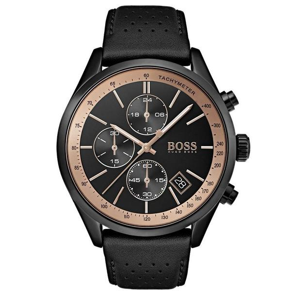 Hugo Boss Grand Prix Chronograph Black Dial Men's Watch 1513550 Water resistance: 30 meters Movement: Quartz