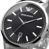Emporio Armani Sportivo Black Dial Stainless Steel Men's Watch AR2457 Water resistance: 50 meters / 165 feet Movement: Quartz