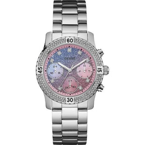 Guess Confetti Silver-Tone Stainless Steel Ladies Watch W0774L1
