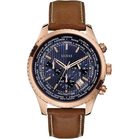 Guess Pursuit Chronograph Blue Dial Men's Watch W0500G1