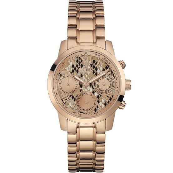 Guess Mini Sunrise Multi-Function Rose Gold Tone Ladies Watch W0448L9