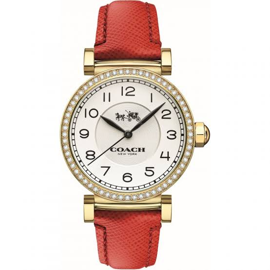 Coach Madison White Dial Red Leather Strap Ladies Watch 14502400