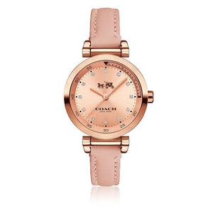 Coach 1941 Sport Crystal Rose Dial Leather Strap Ladies Watch 14502540