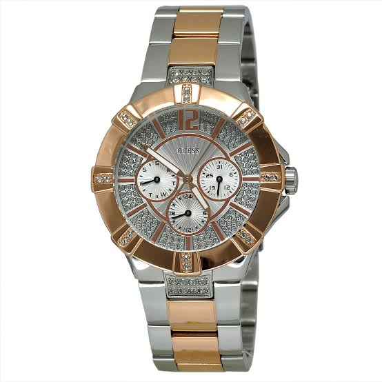 Guess Vista Two-Tone Stainless Steel Watch W0024L1