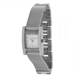 Guess Nouveau Silver Dial Stainless Steel Ladies Watch W0127L1