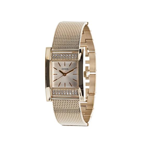Guess Nouveau Gold Dial Stainless Steel Ladies Watch W0127L2