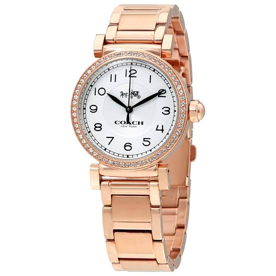 Coach Madison Silver Dial Rose Gold-Tone Ladies Watch 14502398
