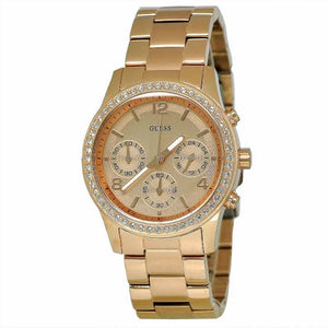 Guess Mini Spectrum Rose Gold-Tone Stainless Steel Ladies Watch W0122L3