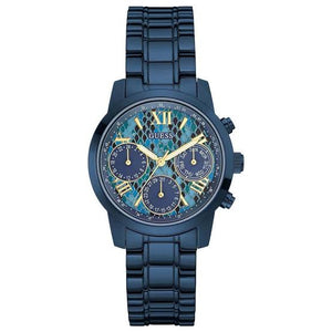 Guess Mini Sunrise Multi-Function Blue Dial Ladies Watch W0448L10