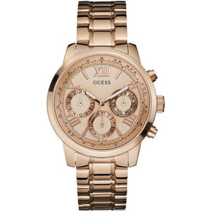 Guess Sunrise Multi-Function Rose Gold-Tone Watch W0330L2