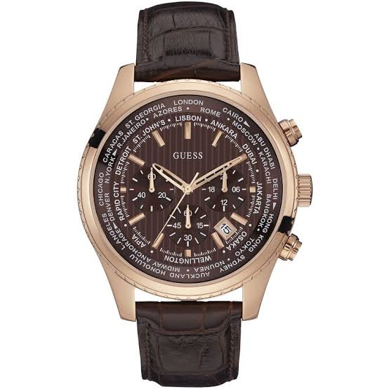 Guess Pursuit Chronograph Brown Dial Men's Watch W0500G3