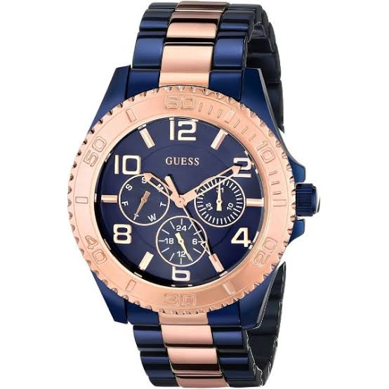 Guess BFF Multi-Function Two-Tone Stainless Steel Ladies Watch W0231L6