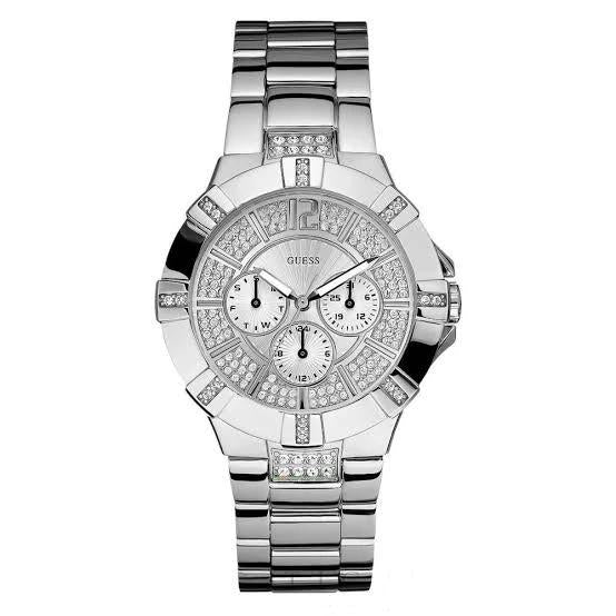 Guess Vista Silver-Tone Stainless Steel Ladies Watch W12080L1