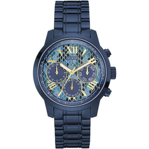 Guess Sunrise Blue Dial Stainless Steel Ladies Watch W0330L17