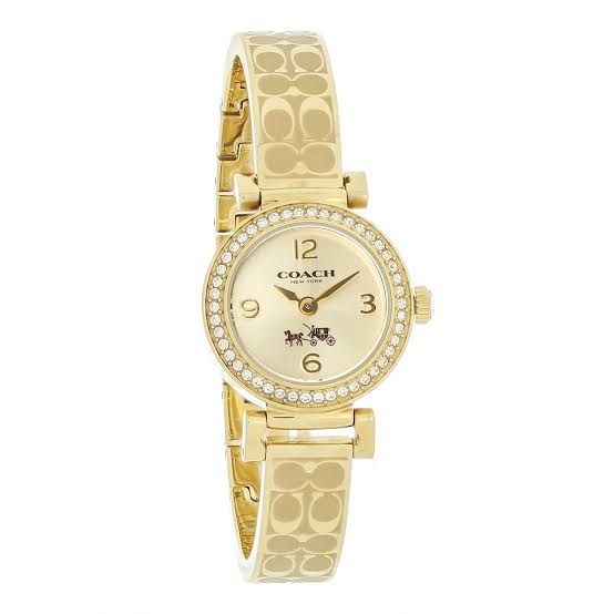 Coach Madison Gold Dial Stainless Steel Ladies Watch 14502202