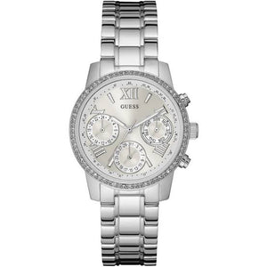 Guess Mini Sunrise Silver-Tone Stainless Steel Ladies Watch W0623L1