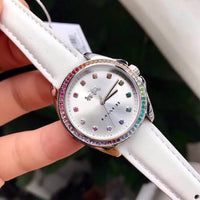 Coach Tristen White Dial Leather Strap Ladies Watch 14502505