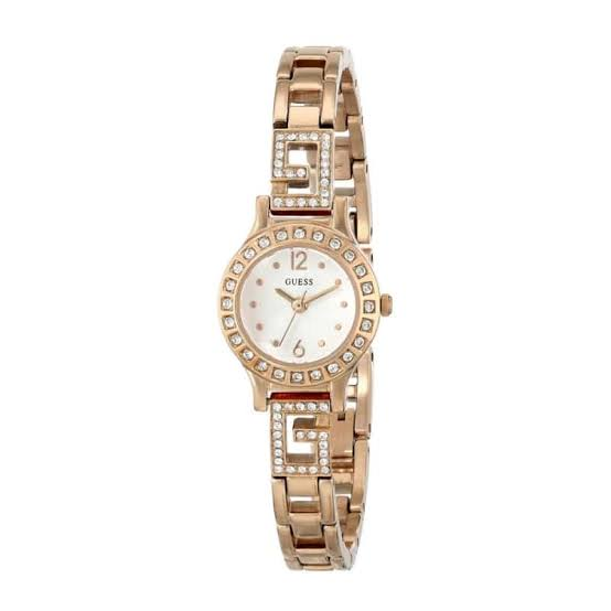 Guess Darling White Dial Stainless Steel Ladies Watch W0411L3