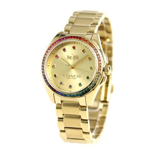 Coach Tristen Gold Dial Stainless Steel Ladies Watch 14502507