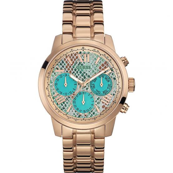 Guess Sunrise Multi-Function Rose Gold-Tone Ladies Watch W0330L12