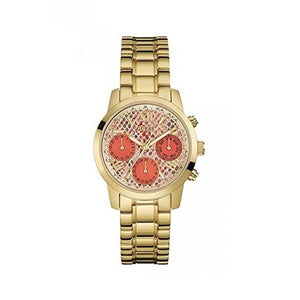 Guess Mini Sunrise Multi-Function Orange Dial Ladies Watch W0448L7