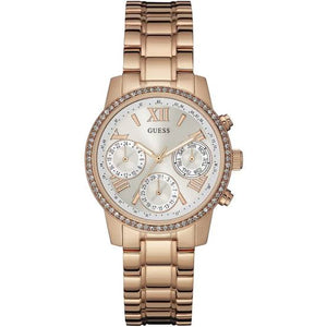 Guess Mini Sunrise Rose Gold-Tone Stainless Steel Ladies Watch W0623L2