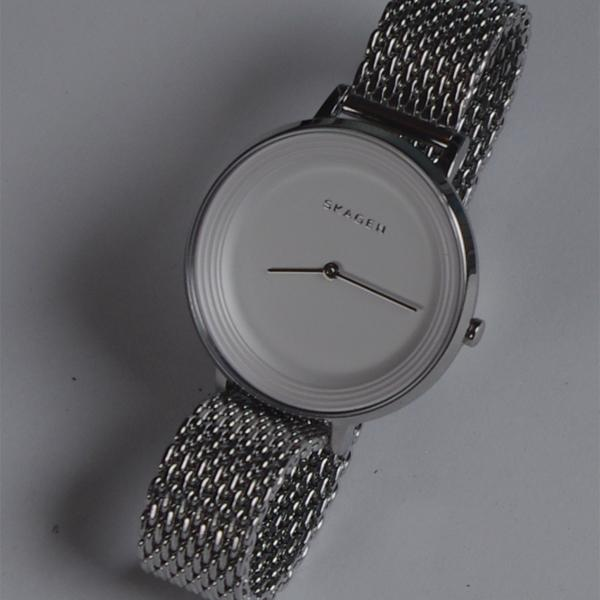 Skagen Ditte Silver Dial Stainless Steel Mesh Ladies Watch SKW2332