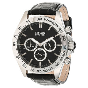 Hugo Boss Ikon Chronograph Black Dial Men's Watch 1513178 Water resistance: 50 metres Movement: Quartz