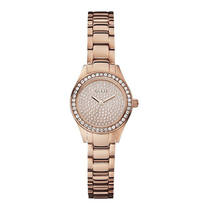 Guess Mini Pixie Rose Gold Dial Stainless Steel Ladies Watch W0230L3