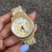 Michael Kors White Mother of Pearl Dial Ladies Watch MK5400