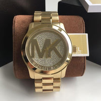 Michael Kors Runway Gold Crystal Pave Dial Bling Watch MK5706 Water resistance: 100 meters / 330 feet Movement: Quartz