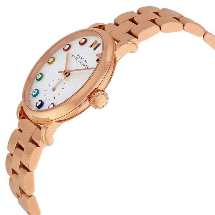 Marc Jacobs Baker White Dial Rose Gold-tone 36mm Ladies Watch MBM3441 - Big Daddy Watches