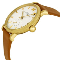 Marc Jacobs Baker White Dial Tan Leather Strap 36.5mm Ladies Watch MBM1316 - Big Daddy Watches