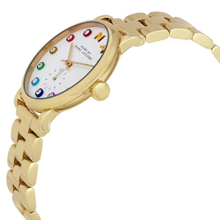 Marc Jacobs Baker White Dial Gold-tone 36mm Ladies Watch