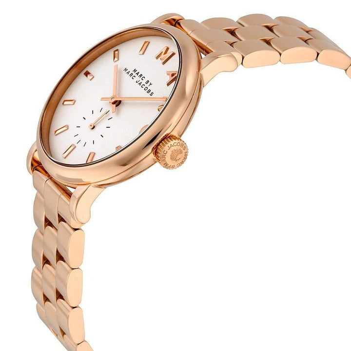 Marc Jacobs Silver Dial Rose Gold-Tone 36mm Ladies Watch MBM3244 - Big Daddy Watches