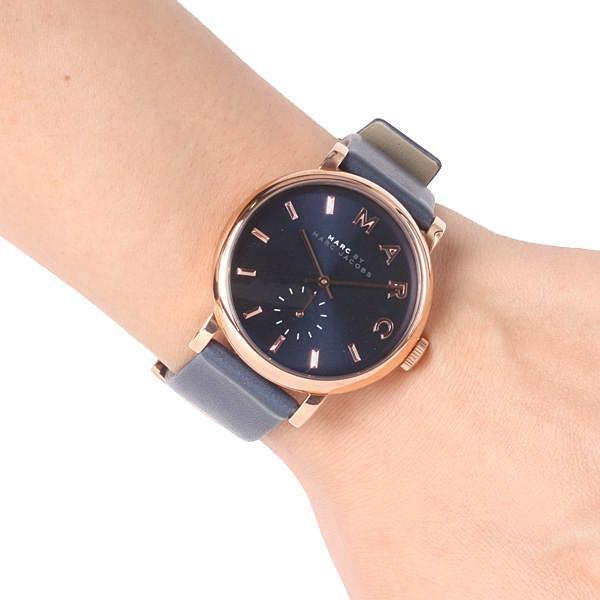 Marc Jacobs Baker Navy Dial Leather Strap 36mm Ladies Watch MBM1329