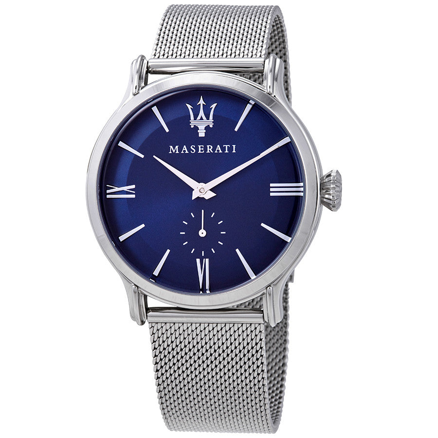 Maserati Epoca Blue Dial Stainless Steel Mesh Men's Watch R8853118006
