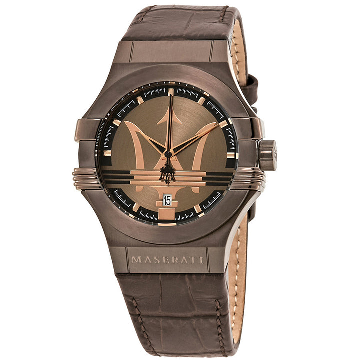 Maserati Potenza Brown Dial Leather Strap Men's Watch R8851108011