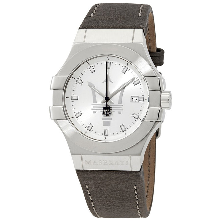 Maserati Potenza Silver Dial Stainless Steel Men's Watch R8851108018