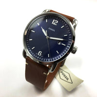 Fossil Commuter Blue Dial Brown Leather Men's Watch FS5325