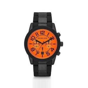 Michael Kors Mercer Chronograph Orange Dial Men's Watch MK8327